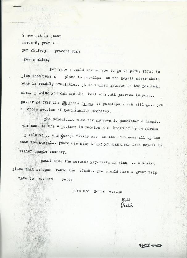Foto 4- Carta de W. Burroughs